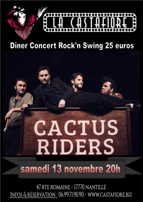 Dîner concert dansant Cactus Riders - rock and swing